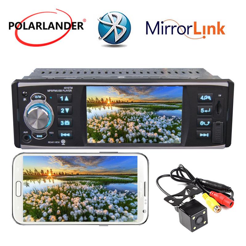 Autoradio 4 pouces HD USB/SD/FM stéréo Bluetooth MP5 lecteur miroir lien radio cassette lecteur écran tactile 1 din