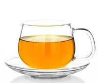 10oz 2PCS Heat Resistant Borosilicate Glass Tea Espresso Handle Cup Coffee Drinkware Glassware With Sauce