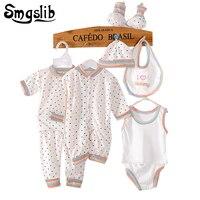 8 Pcs Set Newborn Baby Girl Boy Clothes Autumn Spring Cartoon Cotton Children Clothing Set Comfortable
