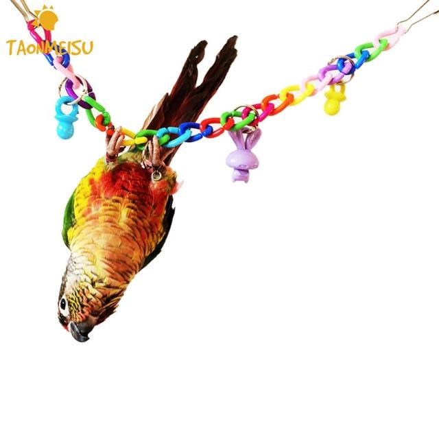 35cm Pet Bird Toys Acrylic Metal Swing Drawbridge Toy Pets Parrot Cockatiel Parakeets Chew Standing Swing Toys Birds Accessories