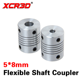 цена на XCR3D 3D Printer Parts 5mm to 8mm Flexible Shaft Coupler Z Axis Motor Jaw Shaft Coupling L19D25mm CNC 5*8mm Stainless Steel 1pcs