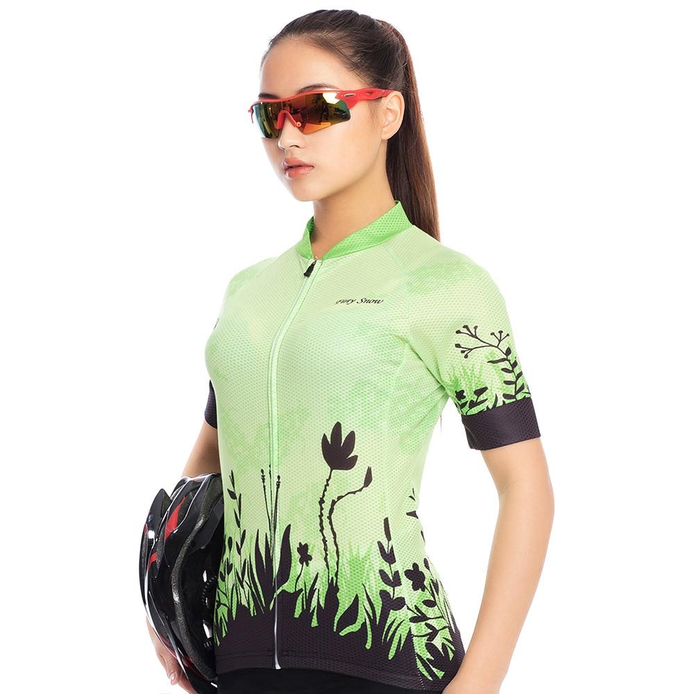 2018 New Firty snow women Cycling clothing cycling short sleeve summer Cycling Jersey woman gel pad BiB shorts kit