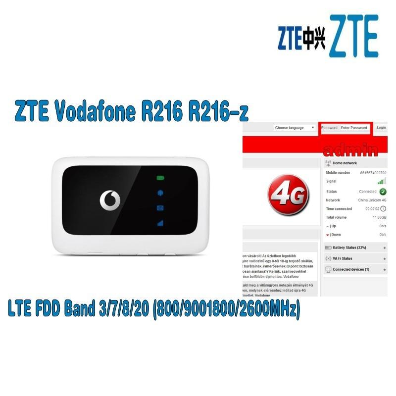Vodafone R216 R216-z (com antena) Bolso sem fio Wi-fi router pk Huawei E5573 E5577 E5372 ZTE MF910