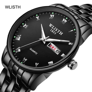 2020 WLISTH New Luxury Brand Lover Watch Pair Waterproof Alloy Men Women Couples Lovers Watches Set Wristwatches Relogio Feminin hot sales gogoey brand pair watches men women lovers couples fashion dress quartz wristwatches 6699