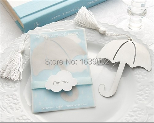 High Quality Showers Of Love Umbrella Bookmark Cheap Baby Shower Free  Shipping For 20pcs