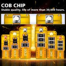 2PCS new T10 W5W 194 2825 168 high quality chip LED lights Car marker light wedge tail side white red blue 12V