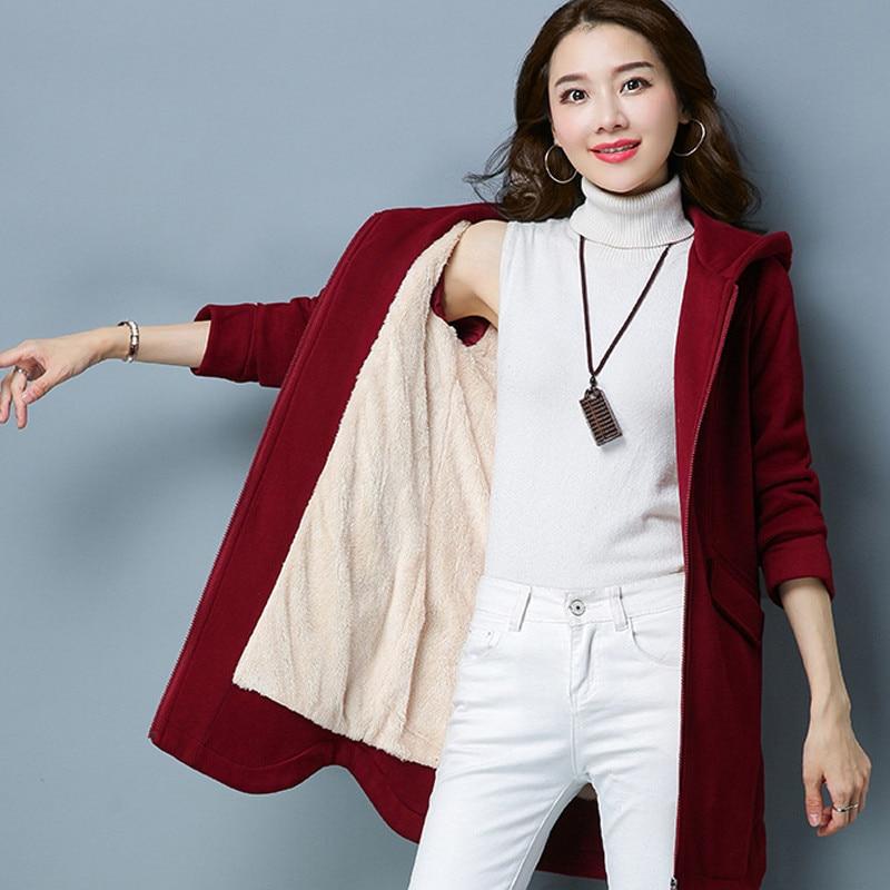 Autumn Winter Jacket Women Coat Warm Hooded   Parka   Cotton Padded Coat Plus Size XXXL Slim Zipper Outerwear Tops Jacket Coat Q598