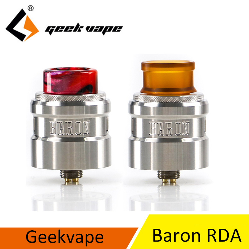2 pcs/lot Geekvape RDA atomiseur Geekvape Baron Squonk RDA système de flux d'air multifonctionnel 24mm RDA vs DROP RDA drop dead