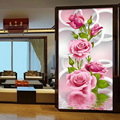 30*56 см Рукоделие 5D Сделай Сам Алмаз Живопись Вышивки Крестом Розовые Розы Алмаз Вышивка Цветок Вертикальная Печать рубика для Сверла