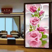 Рубика вертикальная розовые сделай сам рукоделие крестом вышивки сверла розы алмаз