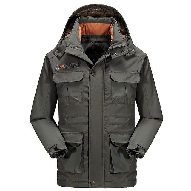 Plus Size M-3XL Forro Destacável dos homens Novos de Inverno Longos e Grossos neve Quente de Pato Branco Para Baixo Casaco Jaqueta de Inverno Para Os Homens, 2 cores, 9288