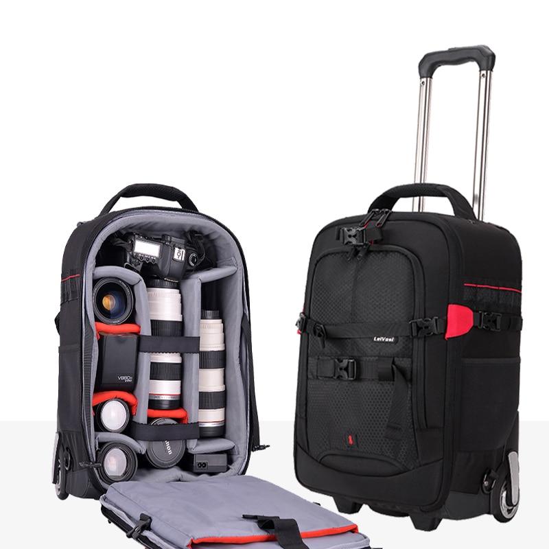 Дорожные сумки удобная фотография Сумки на колёсиках цифровой плечо чемодан с колесиками для мужчин камера тележка для каюты высокое качес