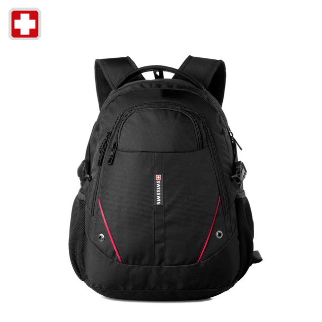 ФОТО Swisswin women Laptop Backpack Computer Backpack for female Bussiness and Travel 30L Black lightweight women's backpack hombres