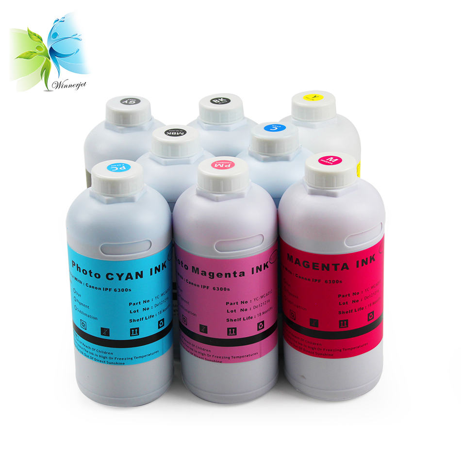 Winnerjet 1000ml x 8 colors ink bottles pigment ink for Canon iPF6300S iPF 6300S printer paint for Canon PFI 105 PFI 105 PFI105 in Ink Refill Kits from Computer Office