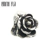 Emith Fla 100 925 Sterling Silver Rose Of June Charm Beads Fit Original European Troll Bracelets