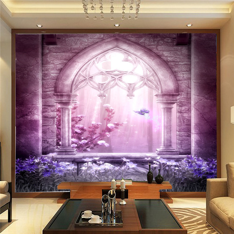 Fashion Wallpaper Wall Mural Large Silk Photo Dreamy Purple Room Decor Kid S Art Bedroom Nursery In Wallpapers From Home