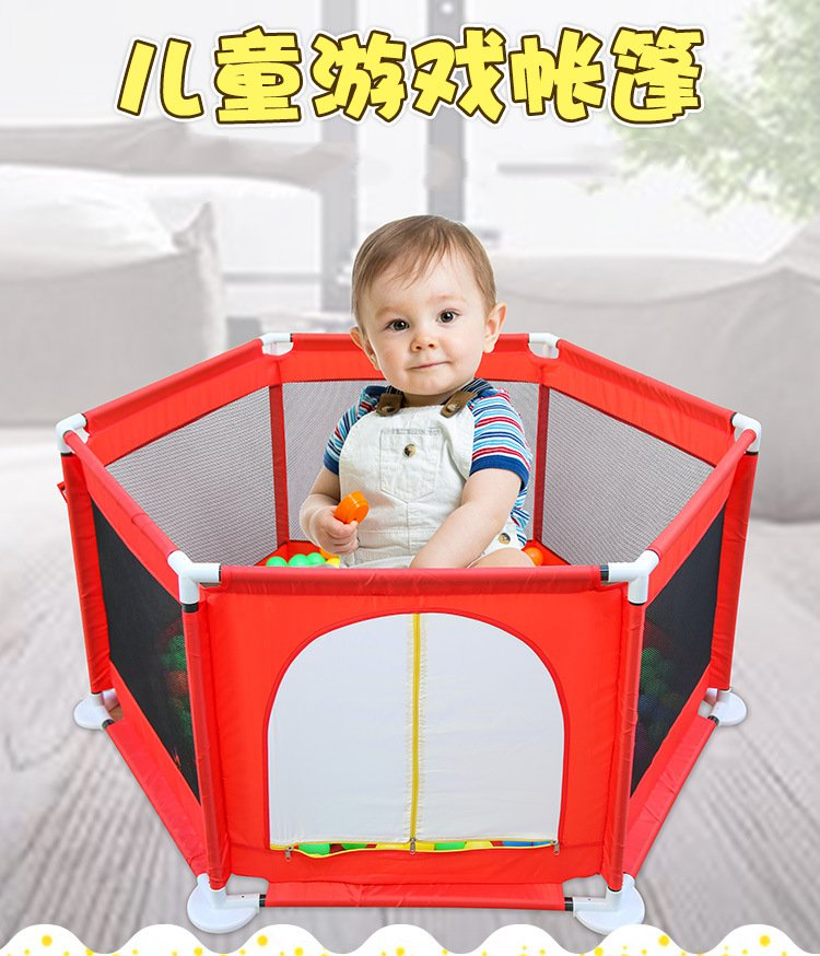 Colors safe childcare fence cartoon baby playpen