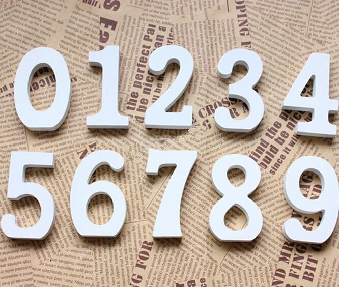 decoracin del hogar de madera blanca y espesa nmeros alfabeto de madera para decoracin de cumpleaos