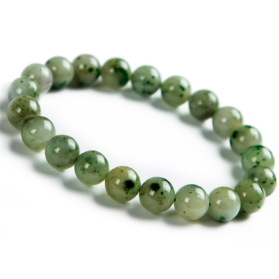 9mm Genuine Natural Green Dushan Gem Stone Crystal Round Bead Stretch Charm Bracelets For Women genuine green seraphinite natural stone crystal round beads 14mm women mens stretch bracelets