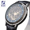 Xingyunshi Marca de Lujo Relojes de Pulsera Mujeres Hombres LED Digital Del Reloj de Oro Reloj de cuero Reloj de Señoras Vestido Reloj Relogio Feminino