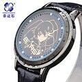 Xingyunshi Marca de Luxo Relógios de Pulso Das Mulheres Dos Homens Relógio Digital de LED Relógio de couro de Ouro Relógio de Senhoras Vestido Relógio Relogio feminino