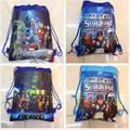 24 unids Marvel Los Vengadores Iron man Kids Morral del Lazo Bolsas, escuela/Bolsas de la Compra, niños de Navidad Mejor Regalo, Favor de Partido