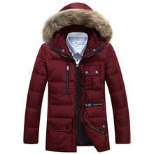 2016 мужская мода пальто средний стиль утка пуховик детский зимний комбинезон хлопка-ватник чистый цвет тонкий версия молодежь пальто