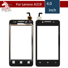 4.0 For Lenovo  A319 A319i A 319 LCD Touch Screen Digitizer Sensor Outer Glass Lens Panel Replacement
