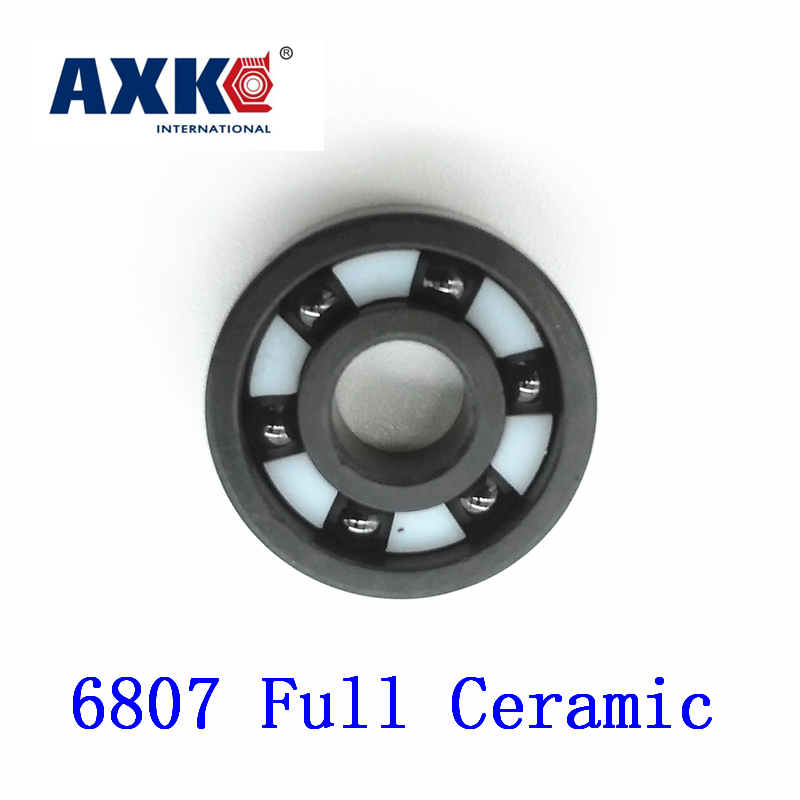 2018 Real Rolamentos Axk 6807 Full Ceramic Bearing ( 1 Pc ) 35*47*7 Mm Si3n4 Material 6807ce All Silicon Nitride Ball Bearings цена