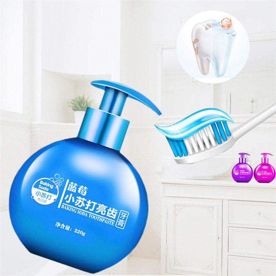Nouveau 1PC 220g bicarbonate de soude élimination des taches blanchiment dentifrice lutte saignement des gencives blanchiment des dents nettoyage dentifrice 0702 #30