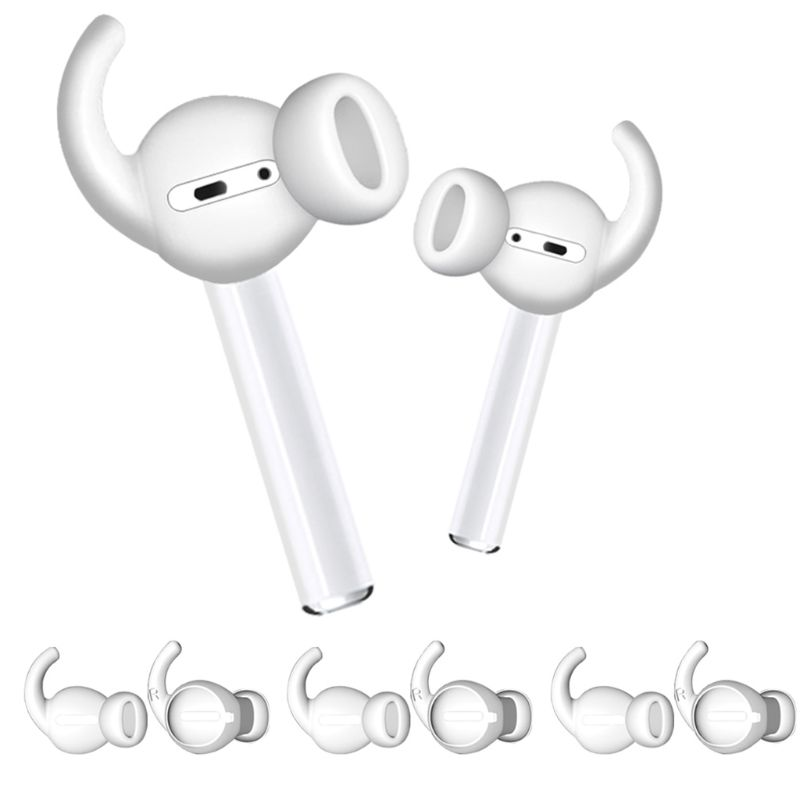 3Pair Antislip Silicone Earcap Eartips Protective Cover Earbuds Storage Bag for Apple Airpods Earpods Earphone Accessories