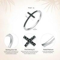 925 Sterling Silver Cross Finger Ring