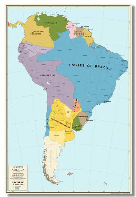 Online Shop Custom Wall Decal South America In 1871 Wallpaper ...