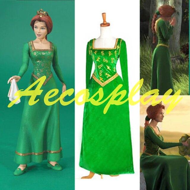 Fiona Kostuum Aangepaste Cosplay Prinses Shrek Jurk Y7yfb6gv