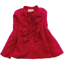 Long Sleeve Princess Blouse For Baby Girl 2017 Lovely Autumn Spring  Blouses kids clothes Girl School Blouse Shirt 2 3 4 6 8 11T
