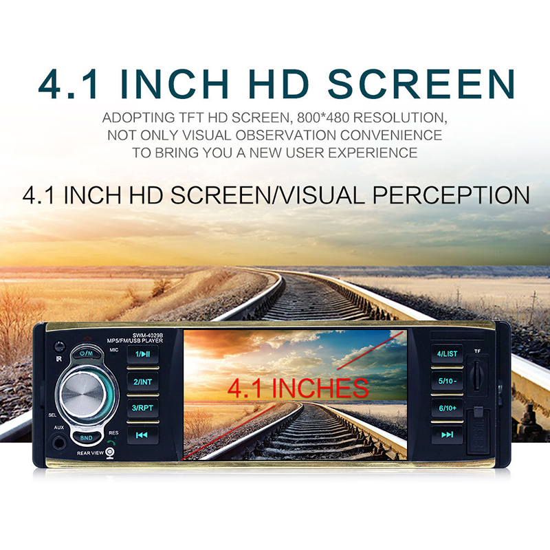 2018 Auto Parts Car Radio 4.1 Inch High Definition Car MP4 Plug-in Machine MP5 Car Player Bluetooth Hands-free Priority Display 2018 auto parts car radio in car radios high definition 7 inch car mp5 player car bluetooth music mp4 card radio player display