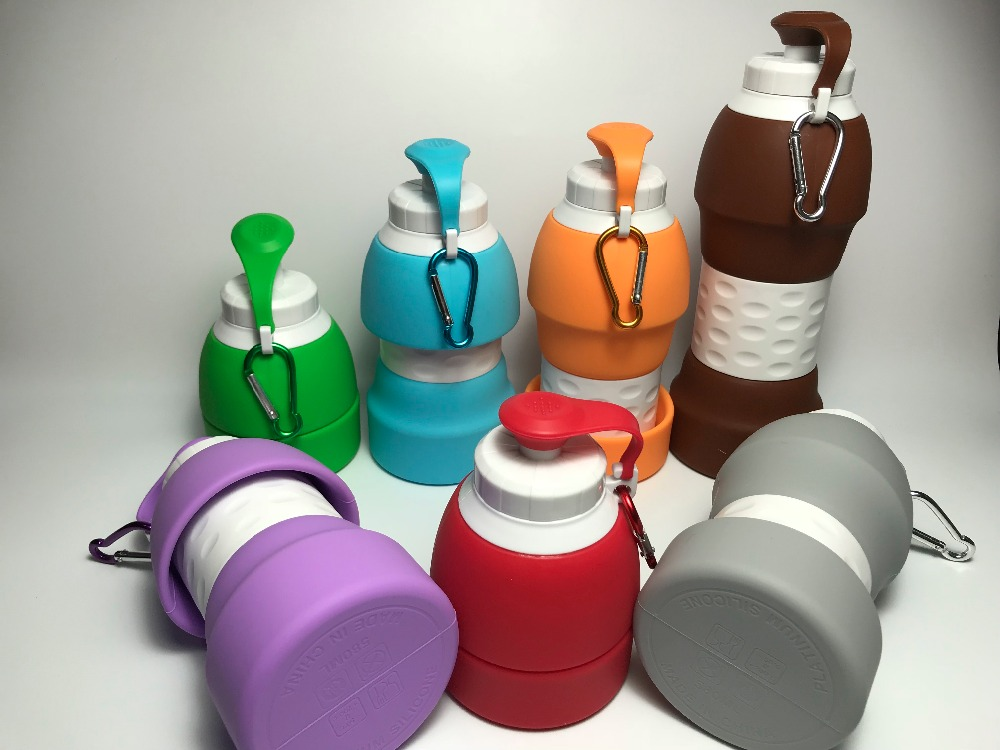 2020 Outdoor Sport Silicone Folding Water Bottle