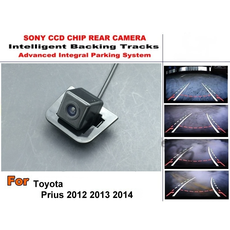 For For Toyota Prius 2012 2013 2014 Smart Tracks Chip Camera / HD CCD Intelligent Dynamic Parking Car Rear View Camera for mazda 6 mazda6 atenza 2014 2015 ccd car backup parking camera intelligent tracks dynamic guidance rear view camera