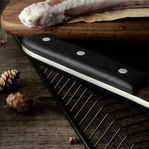 Image 2 - XYj מלא טאנג שף קמפינג סרבי הקצב סכין אריזת מתנה כיסוי נדן בעבודת יד מזויף בלבוש פלדה מטבח קליבר רחב סכין