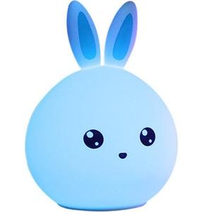Image 3 - 토끼 램프 토끼 LED 밤 빛 어린이 Nightlight 아기 잠자는 머리맡 램프 USB 실리콘 탭 제어 터치 센서 빛