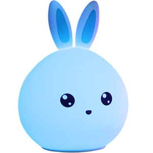 Image 3 - Rabbit Lamp Bunny LED Night Light Childrens Nightlight Baby Sleeping Bedside Lamp USB Silicone Tap Control Touch Sensor Light