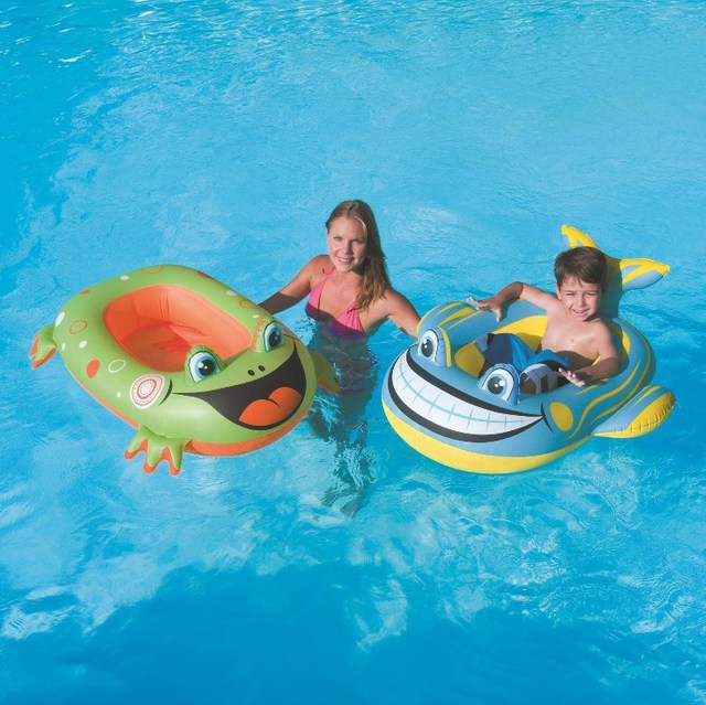 pool water with float. Bestway Summer Inflatable Toddler Baby Swimming Ring Boat Pool Water Float Seat With