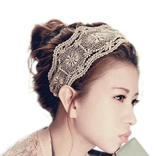 Hot Elegant Womens Girls Lace Headband Hairband Retro Headwere Wide Heads Hair Accessories 5BUQ 7G9V