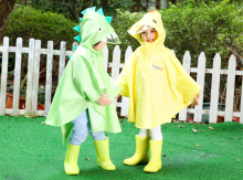 Fashion burberry kids Cartoon Raincoat Yellow Red Rainwear Transparent Children Rain Coat Waterproof Baby Girls Clothes