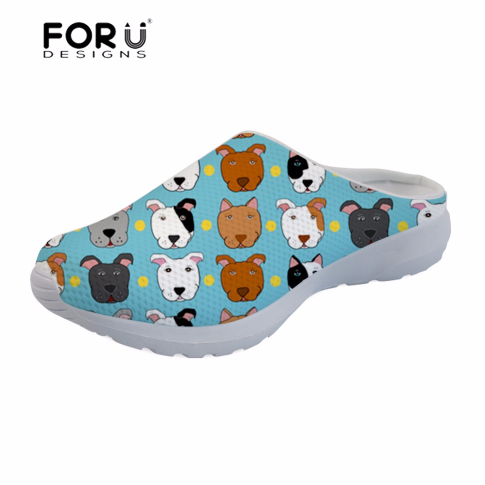 Women's Shoes Intelligent Forudesigns Womens Sandals Bull Terriers Printing Platform Sandals Summer Ladies Shoes Slipper Female Sneakers Sapato Feminino Good For Energy And The Spleen