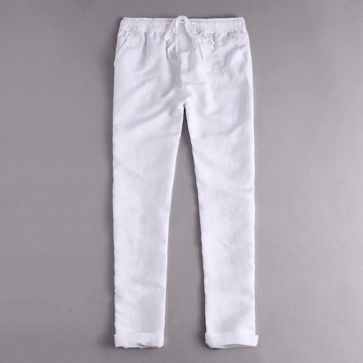 2018 Men's Linen Pants Long Cotton Casual Pants Men's Pants X82
