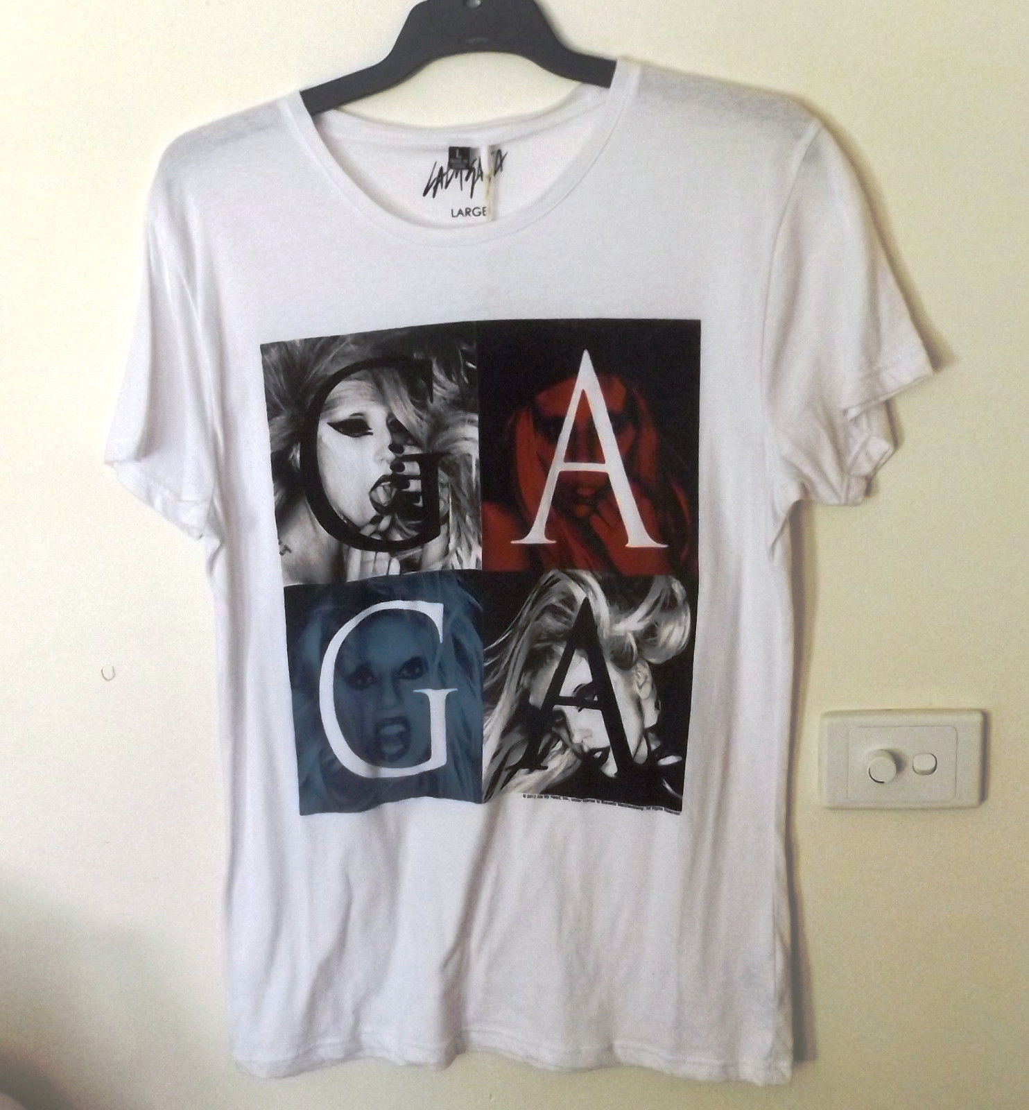 Lady Gaga Mens T-Shirt Size L