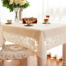Top Elegant embroidery Lace Round Tablecloth For Wedding Table Cloth Cover TV covers tea tablecloths sofa towel refrigerator(China)