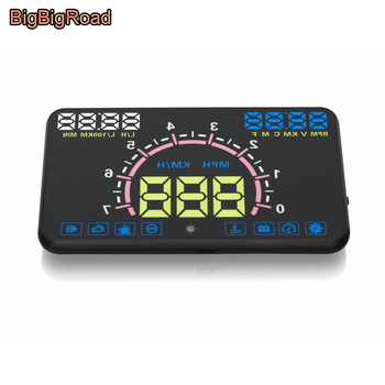 BigBigRoad Car HUD Head Up Display Windscreen Projector OBD2 For BMW 6 7 Series E63 E64 F06 F12 F13 E32 E38 E65 E66 E67 E68 F01 image