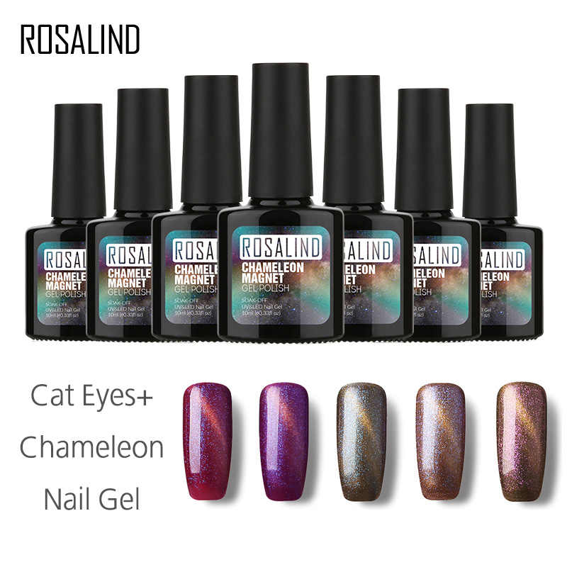 ROSALIND Gel 1S Nail Gel 10ml Colorful Phantom Nail Gel Polish 3D Cat Eyes + Chameleon Long-lasting Gel Polish UV Cured Manicure